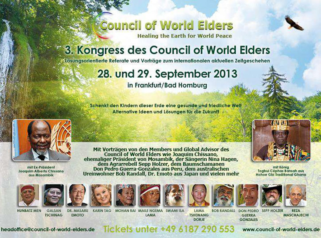 Ankündigung für den 3. Kongress of World Elders